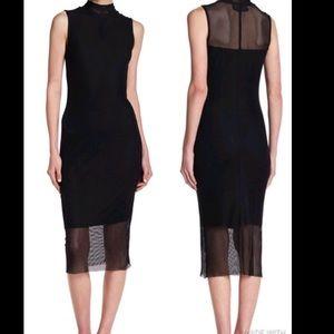 NWOT Kendall & Kylie sleeveless black mesh dress